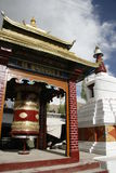 Kultur Indien, buddism, tempel, lopp, religion, tro, berg som är exotiskt, bön Arkivbilder