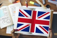 Kultur Liberty Concept för nationalitet för England landsflagga Royaltyfria Bilder
