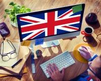 Kultur Liberty Concept för nationalitet för England landsflagga Fotografering för Bildbyråer