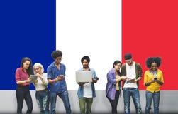 Kultur Liberty Concept för nationalitet för Frankrike landsflagga Arkivbild