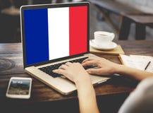 Kultur Liberty Concept för nationalitet för Frankrike landsflagga Arkivfoton