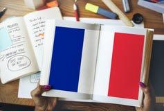 Kultur Liberty Concept för nationalitet för Frankrike landsflagga Fotografering för Bildbyråer