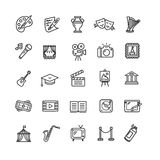 Kultur och idérika fina Art Icons Set vektor royaltyfri illustrationer