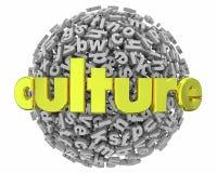 Kultura dialektu Językowe tradycje Piszą list sferę 3d Illustratio Obrazy Stock