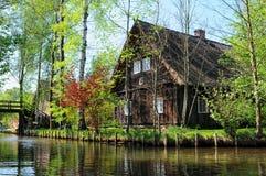 Kultura krajobraz Spreewald las w Brandenburg Niemcy Fotografia Stock