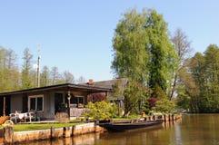 Kultura krajobraz Spreewald las w Brandenburg Niemcy Zdjęcie Royalty Free