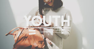 Kultura Młodzieżowa nastolatków pokolenia Młody pojęcie Obrazy Royalty Free