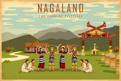 Kultura Nagaland ilustracja wektor