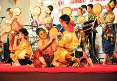 Kulturalny bębenu tana przedstawienie Fotografia Royalty Free