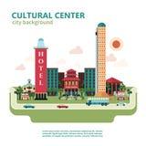 Kulturalny Centrum miasta tło ilustracja wektor
