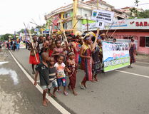 Kulturalny festiwal 2017, Zachodni Papua Zdjęcie Royalty Free