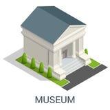 Kulturalny historii centrum miasta muzeum eksponuje galerie royalty ilustracja