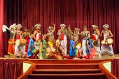Kulturalny Kandyan tana przedstawienie zdjęcia stock