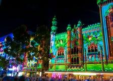 Kulturell festival för vit natt i 2015, Melbourne, Australien Arkivfoto