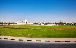 Kulturell fyrkant i Sharjah, Förenade Arabemiraten Royaltyfria Bilder