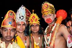 Kulturell lek av ramayanaen i Indien Royaltyfri Fotografi