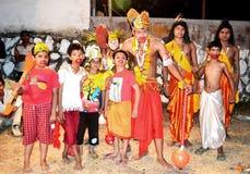 Kulturell lek av ramayanaen i Indien Arkivfoto