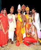 Kulturell lek av ramayanaen i Indien Arkivbilder