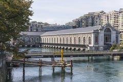 Kulturell mitt för Genève Arkivbilder