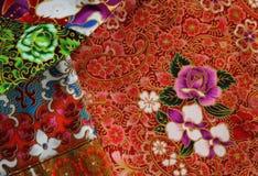 Kulturell tygmodell av Thailand Arkivfoto