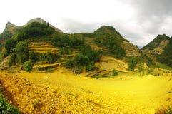 Kulturelle Landschaft in den Bergen Lizenzfreies Stockfoto
