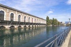 Kulturelle Mitte Genfs Stockfotos