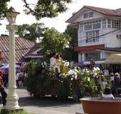 Kulturelle Tanz-Parade Buglasan-Festival-2014 Lizenzfreies Stockfoto