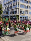 Kulturelle Tanz-Parade Buglasan-Festival-2014 Lizenzfreies Stockbild