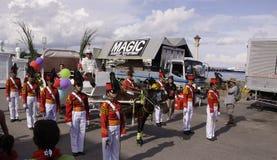 Kulturelle Tanz-Parade Buglasan-Festival-2014 Stockfoto