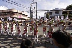 Kulturelle Tanz-Parade Buglasan-Festival-2014 Stockbild