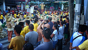 Kulturelle Tanz-Parade Buglasan-Festival-2014 Lizenzfreie Stockfotos
