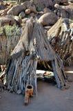 Kulturelles Dorf des Damara Lizenzfreies Stockbild