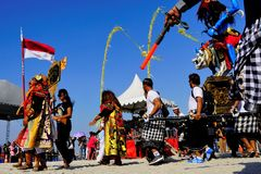Kulturelles Festival am Strand stockfoto