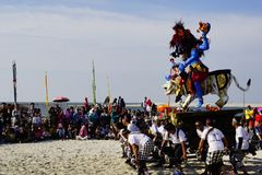 Kulturelles Festival am Strand stockfotografie