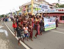 Kulturelles Festival 2017, West-Papua Lizenzfreies Stockfoto