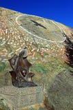 Kulturelles Kreuzungs-Monument in Yellowknife, Nordwest-Territorien lizenzfreie stockfotografie