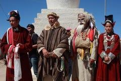 Kulturelles procesion während des Ladakh Festivals Lizenzfreies Stockfoto