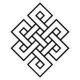 Kulturelles Symbol des endlosen Knotens des Buddhismus stock abbildung