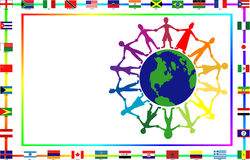 kulturellt flaggafolk royaltyfri illustrationer
