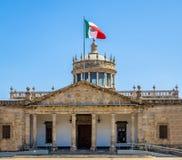 Kulturellt institut för Hospicio CabanasCabanas - Guadalajara, Jalisco, Mexico arkivfoton