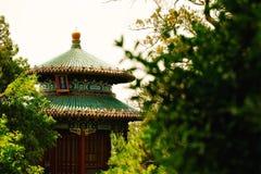 Kulturellt landskap av porslinet för sommarslott royaltyfri bild