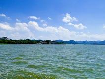 Kulturellt landskap för västra sjö av Hangzhou Fotografering för Bildbyråer
