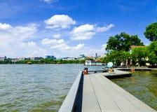 Kulturellt landskap för västra sjö av Hangzhou arkivbilder