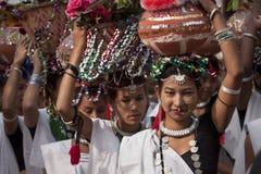 Kulturellt program - elefantfestival, Chitwan 2013, Nepal fotografering för bildbyråer