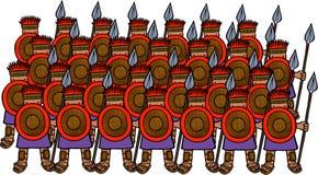 Kulturlose Soldaten Stockfoto