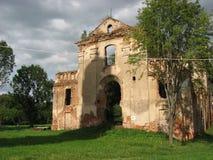 - kulturnaya历史价值 假定修道院 第16个艺术性的大厦世纪constructd等意大利罗马工作 在恢复前 免版税图库摄影