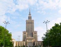 kultury pałac nauka Warsaw Fotografia Royalty Free