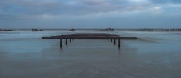 Kultywacja milczkowie przy opalu wybrzeżem Fotografia Royalty Free
