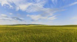 Kultywujący pola w górach Gobustan (Azerbejdżan) obrazy stock
