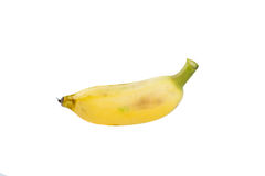 Kultywujący banan na bielu Obrazy Royalty Free